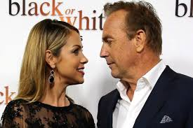 Kevin Coster - kevin costner gives stunning wife christine the look of love as