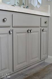 Chalk Paint Bathroom Cabinets Bathroom Cabinets Painted With Paris Grey Chalk Paint And Artisan