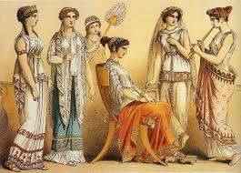 this picture represents typical worn by women in ancient
