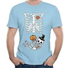 halloween maternity shirt skeleton gender reveal black shirt