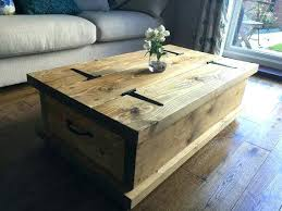 Coffee Tables Chest Wood Coffee Table With Storage Chatel Co