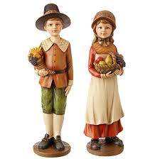 thanksgiving pilgrim figurines thanksgiving pilgrim display pieces boy girl 9 raz
