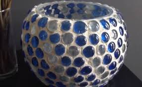 Mosiac Vase How To Create A Gorgeous Glass Marble Mosaic Vase For Cheap