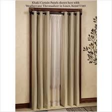 Pennys Drapes Decor Dark Wood Door Casing Style With Crea Penneys Curtains And