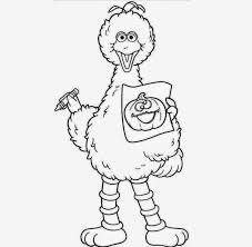 big bird for kid coloring drawing free wallpaper anggela