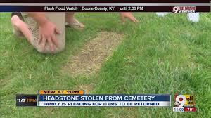 Vases Stolen From Cemetery Stolen Grave Marker Family Wants Headstone Returned Youtube