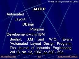 layout design industrial engineering project and production management module 7 facility location and