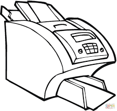 big printer for the office coloring page free printable coloring