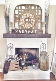 rustic fall fireplace in neutrals falldecor homechanneltv com