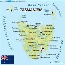 map of tasmania australia map of tasmania australia map in the atlas of the world