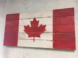 distressed wooden canadian flag idea i stole from another user
