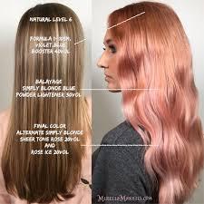 hair color formula photos rose gold color formula women black hairstyle pics