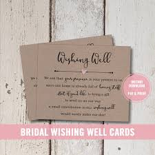 wedding wishes gift registry wedding wishing well card printable bridal shower wishing well