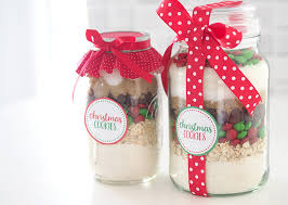 christmas cookie gifts gift idea christmas cookie mix in a jar the organised