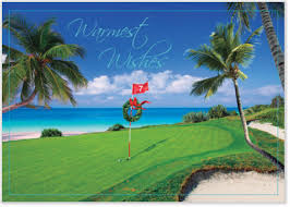 golf theme christmas cards golf lovers holiday cards