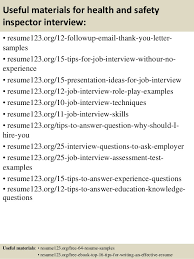 Inspector Resume Sample by Top 8 Health And Safety Inspector Resume Samples