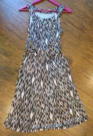 abstract pattern sleeveless dress marks spencer brand dress chocolate mix abstract pattern m casual