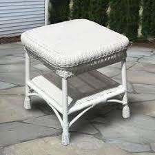 white wicker end table white wicker end table home interior design themes