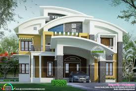 beautiful contemporary curved roof house kerala home design and