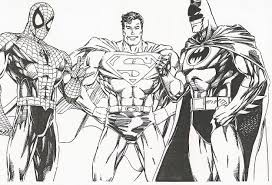 super heroes coloring pages throughout batman superman coloring