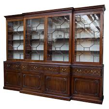 mahogany chippendale period breakfront bookcase furniture