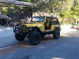 spyder jeep tk u0027s yellow krait ljk buildup by tkfx jeep wrangler tj build