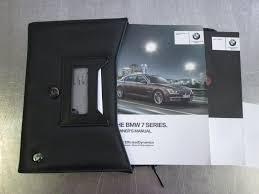 owners manual booklet set black leather case bmw 750i 750li f01