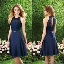 cheap bridesmaid dresses 2017 navy blue cheap bridesmaid dresses high neck cutout