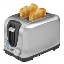 Automatic Toaster 2 Slice Stainless Steel Toaster