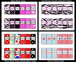 mini candy bar wrappers printable diy theme of your choice