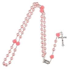 free rosaries free pink rosary with lourdes medal catholic e store
