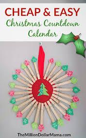 christmas countdown calendar cheap and easy diy christmas countdown calendar