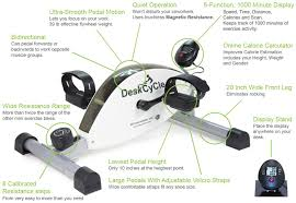 under desk foot exerciser deskcycle desk exercise bike pedal exerciser white by deskcycle