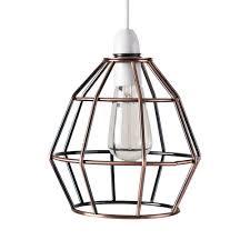 contemporary brushed copper metal basket cage designer style