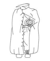 halloween costume coloring headless horseman costume free