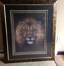 Large Lion Picture Print By Sam Bafaro Home Interiors Home Decor - Home interior frames