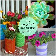 diy recycled and pretty gardens