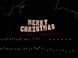 delightful decoration lighted merry sign decor