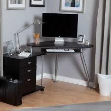 Glass Top Computer Desk Ikea Small Black Corner Desk Black Varnished Wood Small Corner Computer