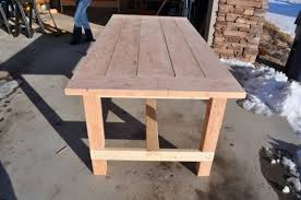 farm table before staining diy projects with pete