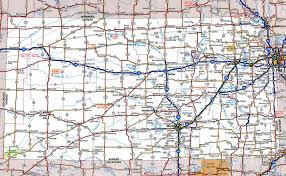 Driving Map Large Detailed Roads And Highways Map Of Kansas State With All