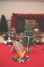 vintage red lantern u0026 sprig table centerpiece from a rustic
