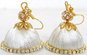 threaded earrings threaded earrings at rs 99 pair s ram murti nagar bengaluru