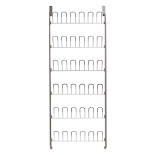 Hanging Shoe Caddy by Neu Home 18 Pair Overdoor Wire Storage Shoe Rack In Silver 17701w
