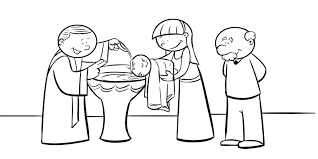 coloring pages jesus baptism to print baptismal font for