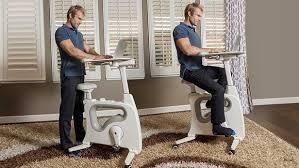 standing desk exercise equipment deskcise pro blends a standing desk with an exercise bike