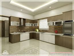 kitchen brown stained storage wall cabinets marble countertops