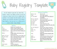 babies registry printable baby registry template baby registry template and