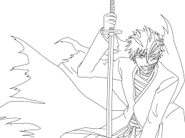11 images of ichigo bankai coloring pages hollow ichigo coloring