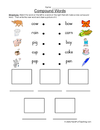 compound words worksheets have fun teaching